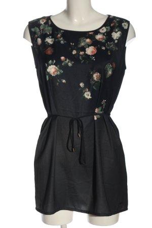 edc Minikleid schwarz Blumenmuster Casual-Look