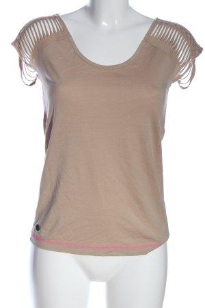 edc T-Shirt wollweiß Casual-Look