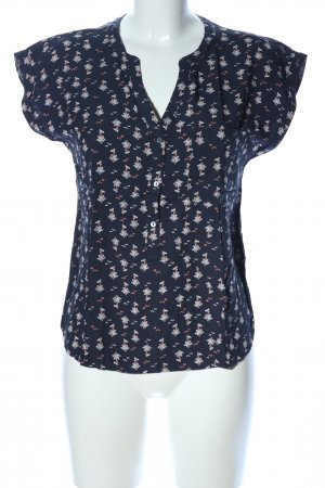 edc Kurzarm-Bluse Allover-Druck Casual-Look