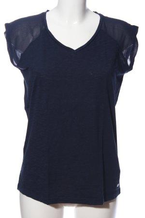 edc Kurzarm-Bluse blau Casual-Look