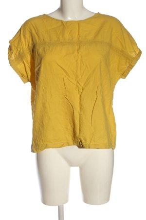 edc Bluzka z krótkim rękawem bladożółty W stylu casual