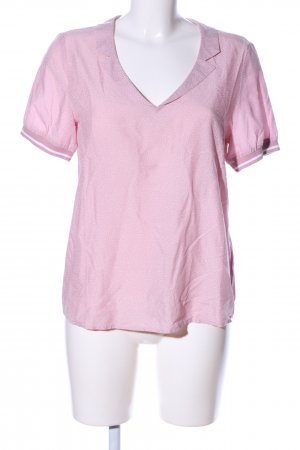 edc Kurzarm-Bluse pink-weiß Punktemuster Casual-Look