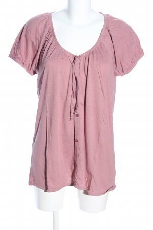 edc Kurzarm-Bluse pink Casual-Look