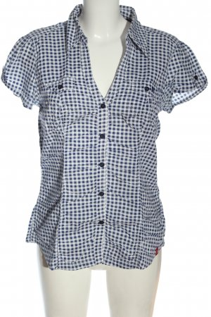 edc Short Sleeve Shirt blue-white allover print casual look