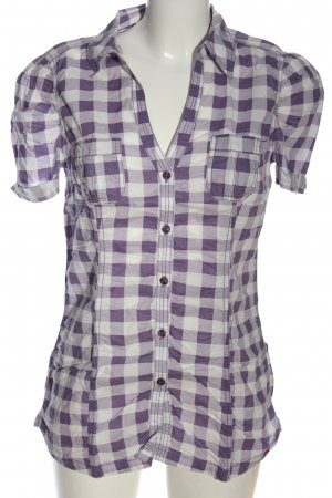 edc Short Sleeve Shirt lilac-white allover print casual look