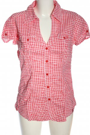 edc Short Sleeve Shirt red-white allover print casual look