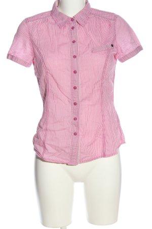 edc Kurzarmhemd pink-weiß Streifenmuster Casual-Look