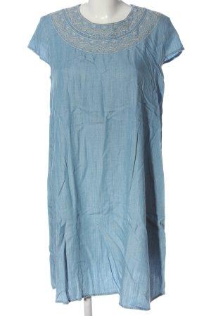 edc Kurzarmkleid blau Casual-Look