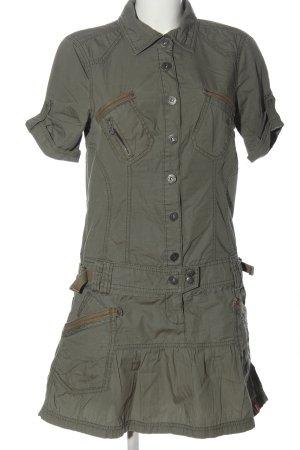 edc Kurzarmkleid khaki-braun Casual-Look