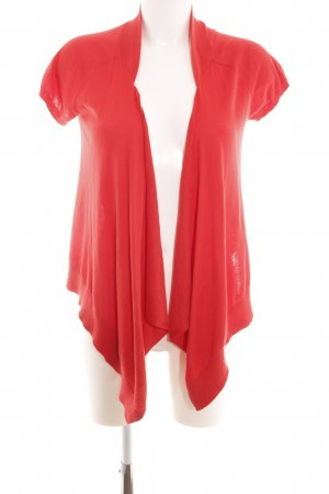 edc Short Sleeve Knitted Jacket red casual look