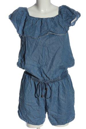 edc Kurzer Jumpsuit blau Casual-Look