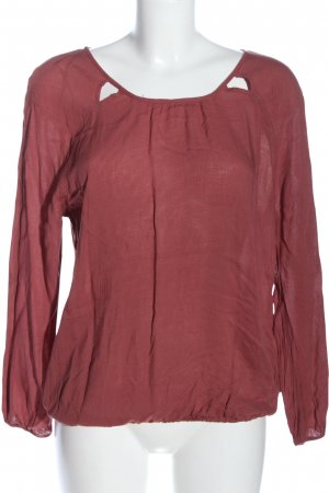 edc Langarm-Bluse rot Allover-Druck Casual-Look