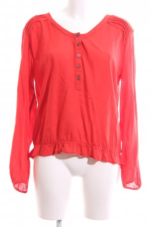 edc Langarm-Bluse rot Casual-Look