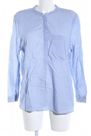 edc Langarm-Bluse blau Allover-Druck Business-Look