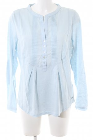 edc Langarm-Bluse blau Business-Look