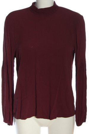 edc Langarm-Bluse rot Elegant