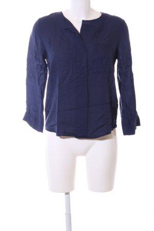 edc Langarm-Bluse blau Casual-Look