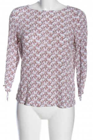 edc Langarm-Bluse Allover-Druck Casual-Look
