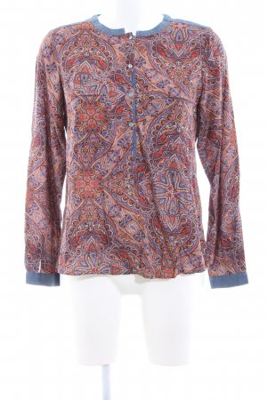 edc Langarm-Bluse abstraktes Muster Casual-Look
