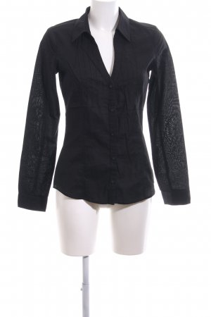 edc Langarm-Bluse schwarz Casual-Look