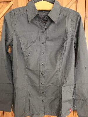 edc Camicia a maniche lunghe color cammello-marrone-grigio