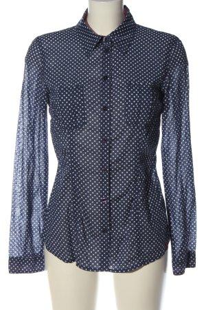 edc Long Sleeve Shirt blue-white allover print casual look