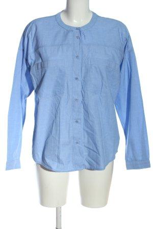 edc Koszula z długim rękawem niebieski-biały Wzór w paski W stylu casual