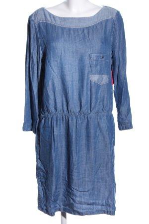 edc Langarmkleid blau meliert Casual-Look