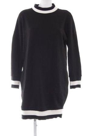 edc Langarmkleid schwarz-weiß Streifenmuster Casual-Look
