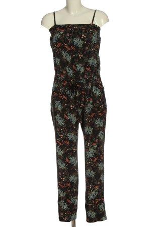 edc Langer Jumpsuit schwarz-pink Allover-Druck Elegant