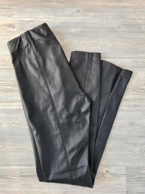 Esprit Pantalon en cuir noir