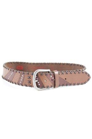 edc Cinturón de cuero marrón look casual