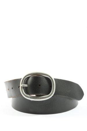 edc Cinturón de cuero negro look casual