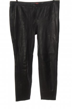 edc Leather Trousers black casual look