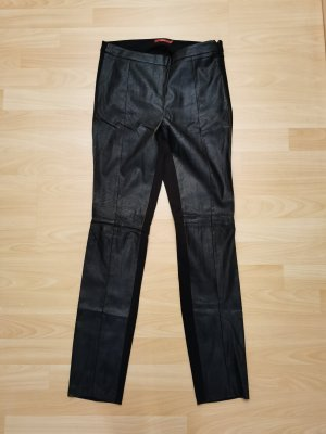 edc Pantalon en cuir noir