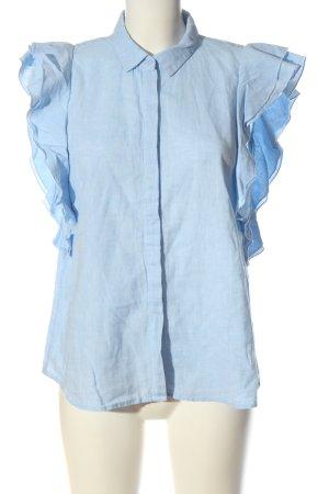 edc Lniana bluzka niebieski Melanżowy W stylu casual