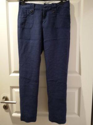 edc Pantalón de lino azul oscuro