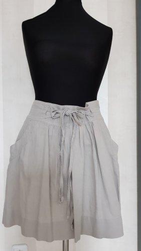 edc Falda de lino gris claro