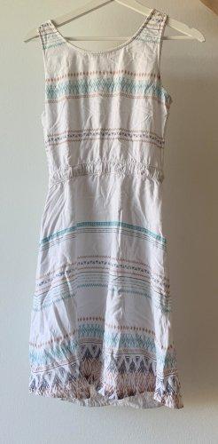 Edc lockeres Kleid mit Ethno Muster und zum Schnüren
