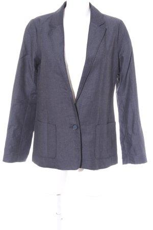 edc Long-Blazer dunkelblau-graublau Zackenmuster Business-Look