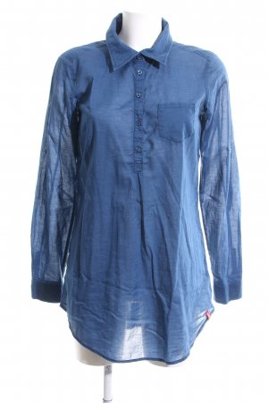 edc Long-Bluse blau Business-Look