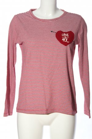 edc Lang shirt rood-wit gestreept patroon casual uitstraling