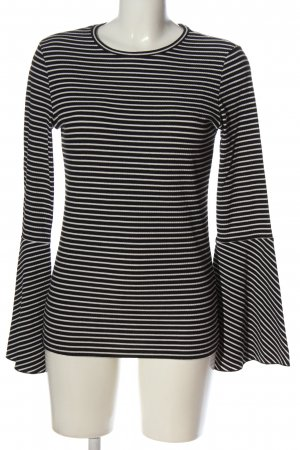 edc Longsleeve black-white striped pattern casual look