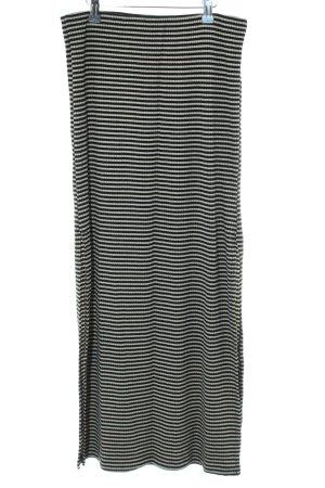 edc Maxirock schwarz-weiß Streifenmuster Casual-Look