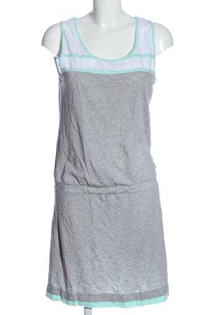 edc by Esprit Abito midi grigio chiaro-bianco puntinato stile casual