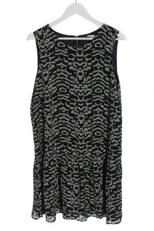 edc Minikleid schwarz-weiß abstraktes Muster Casual-Look