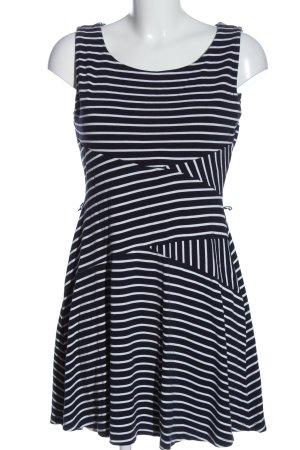 edc Minikleid schwarz-weiß Streifenmuster Casual-Look