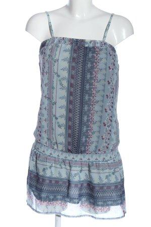 edc Minikleid blau-pink Allover-Druck Casual-Look