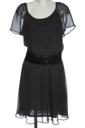 edc Minikleid hellgrau-schwarz Elegant