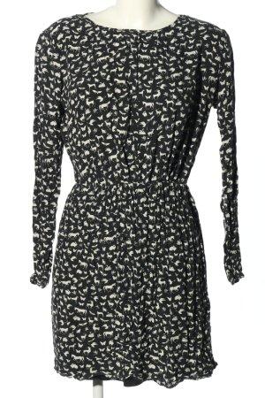 edc Minikleid schwarz-weiß Motivdruck Casual-Look
